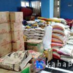 Bantuan Banjir Masih Tersimpan di Aula Kantor Walikota Bima