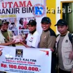 PKS Kaltim Bantu Korban Banjir Kota Bima Rp100 Juta
