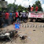 Warga Belo Blokir Jalan