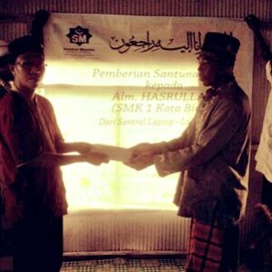 SMKN 1 dan Central Muslim Beri Santunan untuk Keluarga Alm. Asrul