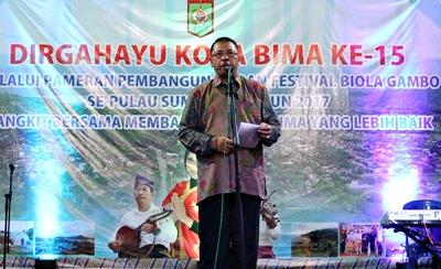 Walikota Bima Tutup Pameran Pembangunan dan Festival Biola Gambo