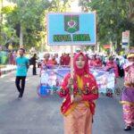 Ratusan Warga Kota Bima Ikut Pawai Budaya Apeksi di Mataram
