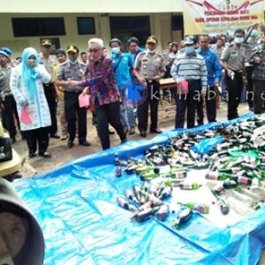 Jelang Ramadan, Polres Bima Musnahkan Barang Bukti Tindak Kriminal