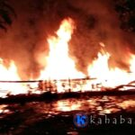 Rumah Panggung Warga Rabadompu Barat Hangus Terbakar