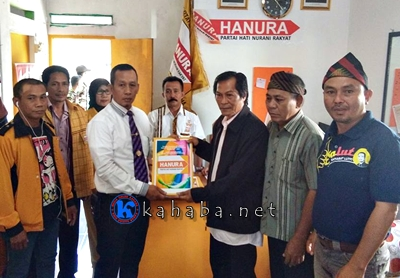 Aji Lutfi Ambil Formulir di Partai Hanura