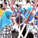 Nilai Desa Leu, Tim Disambut Atraksi Budaya