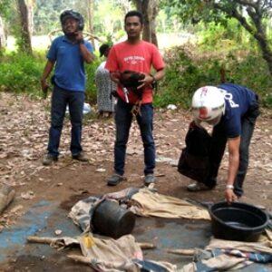 Sabung Ayam di Bolo, Polisi Datang Penjudi Kabur Berhamburan