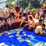Spesial Hari Pramuka, Gerakan Mbojo Tana'o Buka Lapak Baca Jalanan