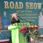 Ketua TP PKK NTB Road Show dan Bina PKK Kabupaten Bima