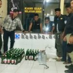 Polsek Bolo Amankan 73 Miras Saat Razia di Hiburan Biola