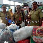Peduli Korban Banjir Lotim, Dinas Dikbud Salurkan Bantuan