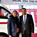 Walikota Bima Terima Bantuan Mobil Pemadam Kebakaran dan Ambulance dari Jepang