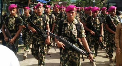 Pasmar 1 Marinir TNI ALBeraksi di Bima