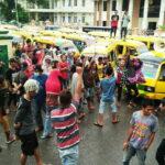 Protes Jalan Satu Jalur, Sopir Angkut Demo Pemkot Bima