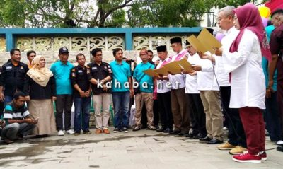 3 Paslon Walikota dan Wakil Walikota Bima Deklarasi Pilkada Damai