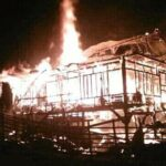 2 Rumah Panggung di Desa Doro O'o Hangus Terbakar