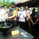 Polres Bima Kota Musnahkan Sabu Sebanyak 120,86 Gram