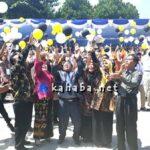Perpisahan SMAN 1, Guru dan Siswa Lepas Merpati dan Balon