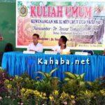 Isi Kuliah Umum di STISIP, Anwar Usman Paparkan Kewenangan MK