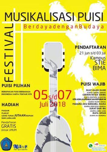 Awal Juli Nanti UKM Biru 09 STIE Bima Gelar Festival Musikalisasi Puisi