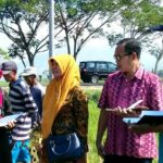 Dispertambun Bima Monitoring Kekeringan Tanaman Padi di Bolo