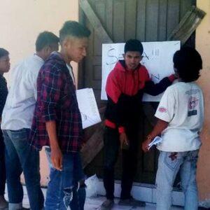 Tuntut Transparansi Anggaran, Kantor Desa Sangiang Disegel