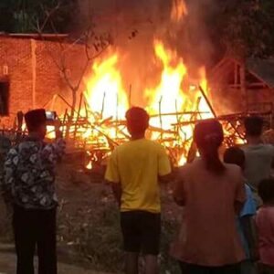 Kebakaran di Penanae, Rumah Panggung Rata dengan Tanah