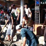 Polsek Bolo dan Warga Gotong Royong Renovasi Masjid Baburridwan