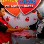 Pemkot Bima Serahkan 102 Kantong Darah Untuk Korban Gempa Lombok