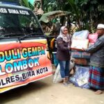 Polres Bima Kota Bantu Korban Gempa