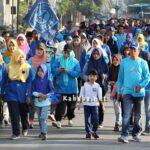 STIE Gelar Jalan Pagi dan Senam Sehat, Hasil Penjualan Kupon Untuk Korban Bencana