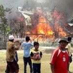 Kebakaran di Maria Utara, Rumah Panggung Ludes Dilahap Api