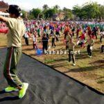 Meriahkan HUT TNI, Dompu Hanyut Dalam Senam Gemu Famire