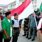 Peserta Kirab Satu Negeri GP Ansor Disambut di Pelabuhan Sape