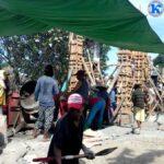 Warga Kananga Gotong Royong Bangun Masjid An Nur Bara