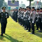 Upacara HUT TNI Ke-73, Dandim Bima Ajak Semua Komponen Berdoa Ringankan Beban Warga di Palu