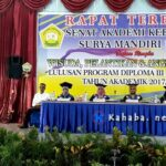 40 Mahasiswi Akbid Surya Mandiri Diwisuda, H Jubair: Jadilah Tenaga Bidan Profesional
