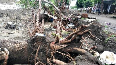 Talud Jalan di Desa Mawu Jebol Dihantam Gelombang, Pemerintah Diminta Tidak Tutup Mata