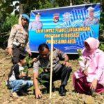 Sat Lantas Tanam 1.000 Pohon di Desa Ntori Wawo