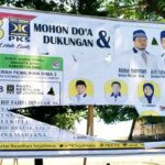Baliho Caleg PKS Dapil III Kabupaten Bima Dirusak