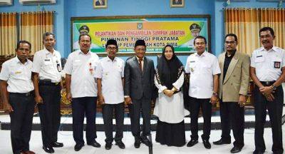 Walikota Bima Lantik H Ahmad Sebagai Kepala DPPPA