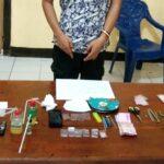 Seorang Pemuda Diseret ke Polres Karena Sering Transaksi Narkoba