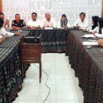 Skuad KPU Kota Bima Yang Baru Rapat Perdana, Matangkan Tahapan Lanjutan