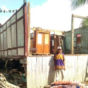 Diterpa Puting Beliung, Rumah Warga Sanolo Rusak Parah