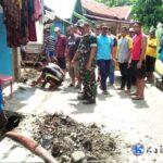 Warga Sarae dan Mahasiswa STKIP Bima Gotong-Royong Bersihkan Lingkungan