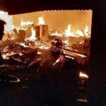 Kebakaran di Renda, Puluhan Rumah Rata dengan Tanah