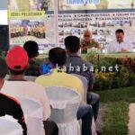 40 Tukang Ikut Pelatihan Tenaga Konstruksi di Halaman Kantor Bupati Bima