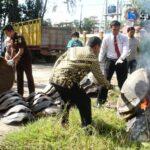 Polres Bima Kota Musnahkan Puluhan Cangkang Penyu