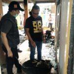 Tim Labfor Bali Olah TKP Kebakaran di Lewirato, Seorang Warga Diamankan