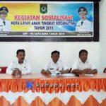 DPPPA Sosialisasi Kota Layak Anak Tingkat Kecamatan